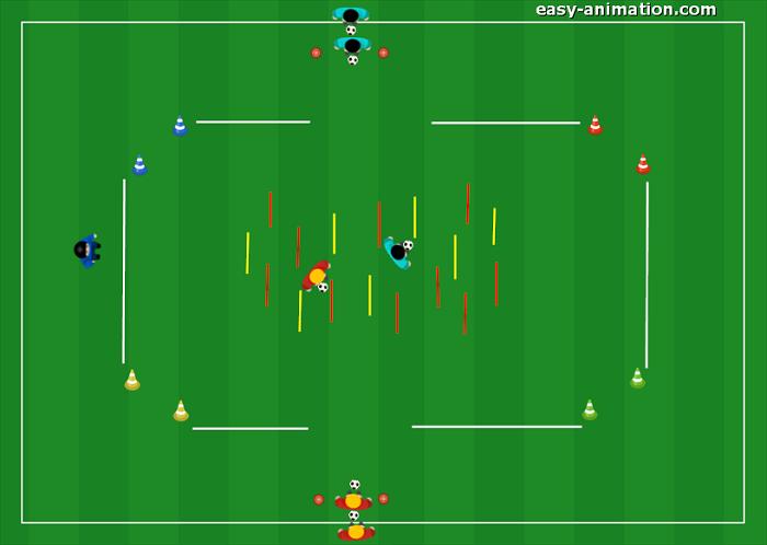 Allenamento Scuola Calcio Dominio Cambi di direzione Il Labirinto