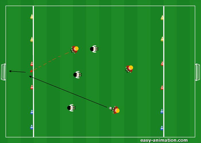 Partita 3v3 per l'attacco dello spazio e per la verticalizzazione