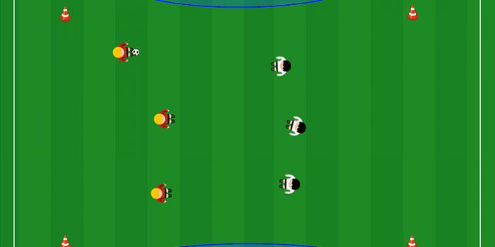 Partita a tema per la Scuola Calcio 3v3 a meta