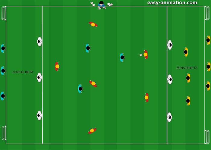 Partita a 3 squadre per attaccare la profondità(2)