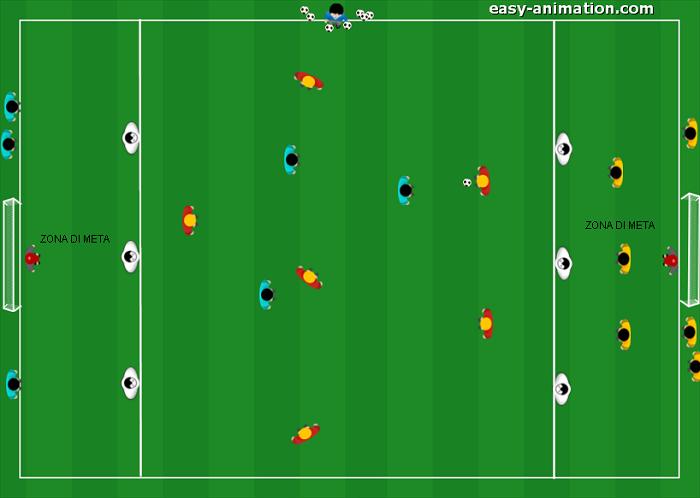 Partita a 3 squadre per attaccare la profondità(3)