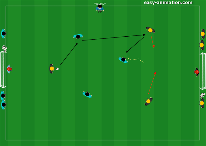 Small Sided Games Mini Partita 3v3 con transizione