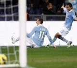 SS Lazio's Klose celebrates after scoring against Inter Milan during their Italian Serie A soccer match in Rome
