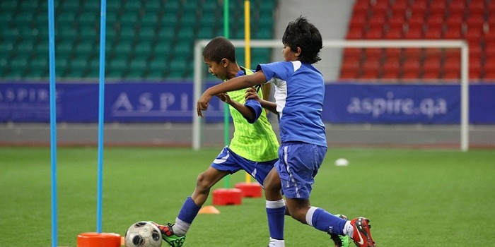 Local Children Participate In Football Programs at ASPIRE Academy for Sports Excellence