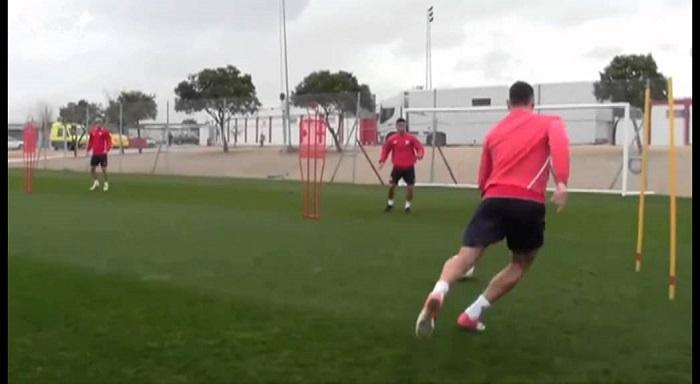 Allenamento calcio Sevilla FC portiere