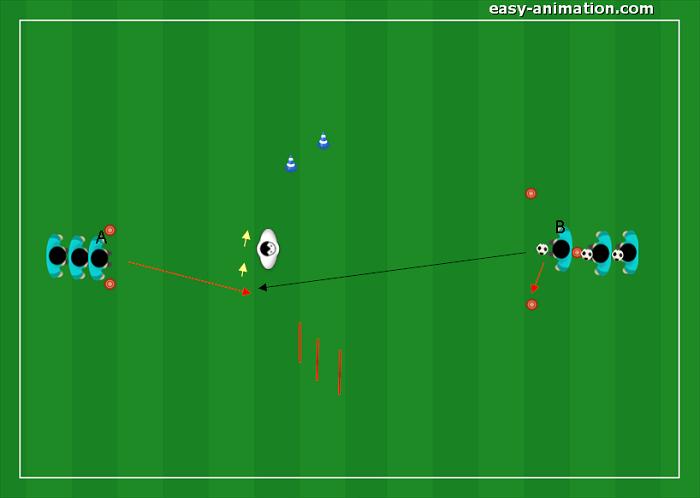 Esercizio di Tecnica Controllo orientato e guida della palla