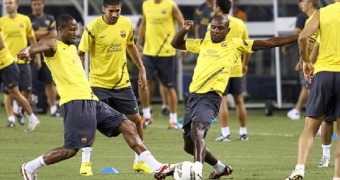 SOCCER: August 5 FC Barcelona Training