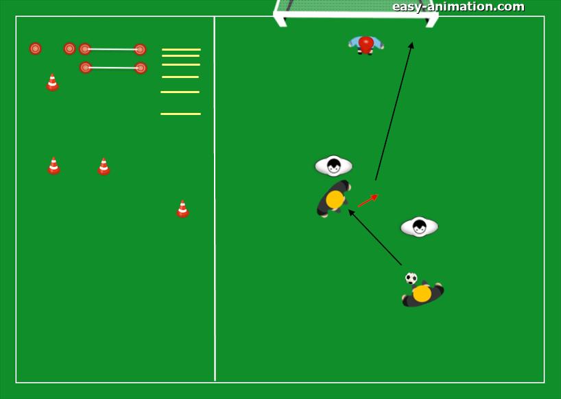 gioco-a-squadre-conclusione-a-rete-rapidita